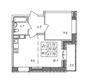 Планировка 2-к квартира
