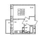 Планировка 1-к квартира